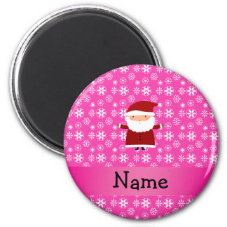 Copos de nieve rosados conocidos personalizados de imanes