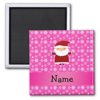 Copos de nieve rosados conocidos personalizados de iman