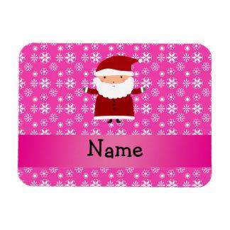 Copos de nieve rosados conocidos personalizados de imán de vinilo