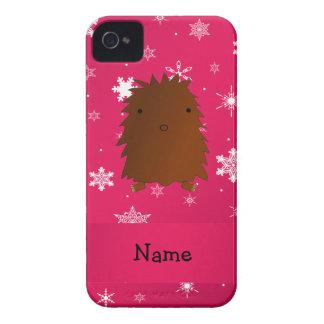 Copos de nieve rosados conocidos personalizados de iPhone 4 Case-Mate protector