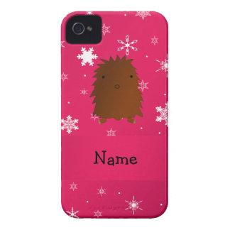 Copos de nieve rosados conocidos personalizados de iPhone 4 cobertura