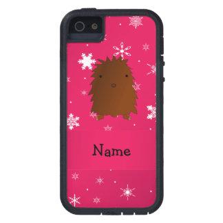 Copos de nieve rosados conocidos personalizados de iPhone 5 carcasas
