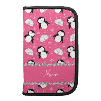 Copos de nieve rosados conocidos personalizados de planificadores