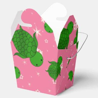 Copos de nieve rosados de mar verde del navidad cajas para regalos