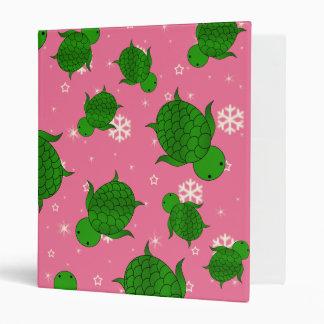 """Copos de nieve rosados de mar verde del navidad carpeta 1"""""""