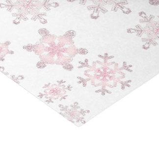 Copos de nieve rosados escarchados suaves - papel papel de seda pequeño