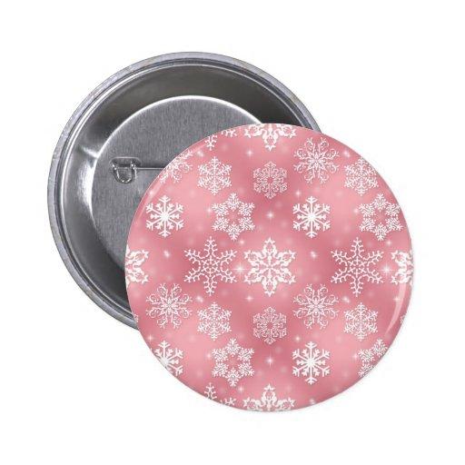 Copos de nieve rosados lindos pin