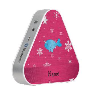 Copos de nieve rosados narwhal conocidos altavoz