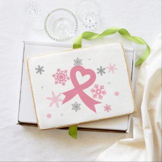 Copos de nieve rosados (navidad del cáncer de