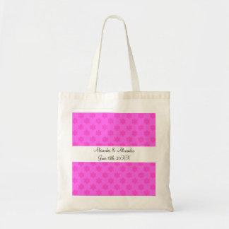 Copos de nieve rosados que casan favores bolsas