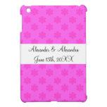 Copos de nieve rosados que casan favores iPad mini carcasa