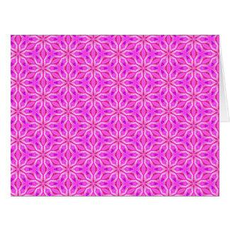 Copos de nieve rosados que hacen girar en invierno tarjeta de felicitación grande