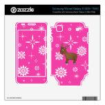 Copos de nieve rosados y blancos del reno lindo skins para samsung vibrant