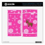 Copos de nieve rosados y blancos del reno lindo samsung captivate skins