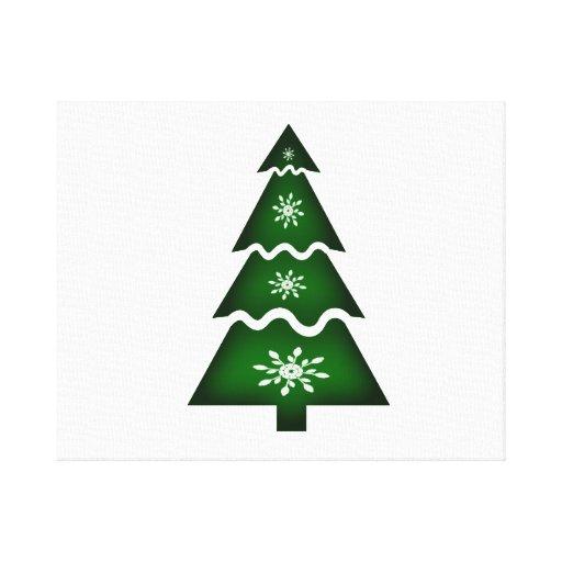 Copos de nieve seccionales del árbol de navidad w impresiones en lienzo estiradas