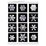 Copos de nieve tarjeta de felicitación