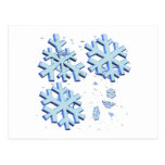 Copos de nieve tarjeta postal