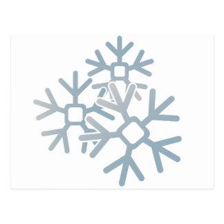 Copos de nieve postal