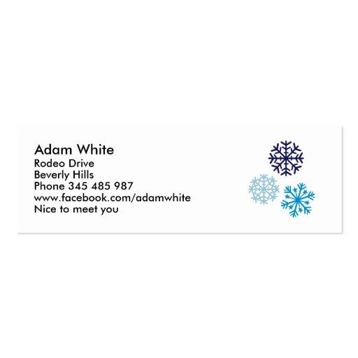Copos de nieve tarjetas de visita