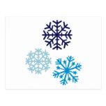Copos de nieve tarjetas postales