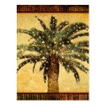 Copos de nieve tropicales de la palmera w del tarjetas postales