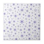 Copos de nieve - Ube en blanco Azulejos Cerámicos