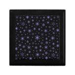 Copos de nieve - Ube en negro Cajas De Joyas