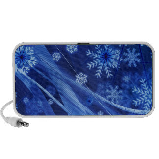 Copos de nieve ventosos de Christmastime en azul Sistema Altavoz