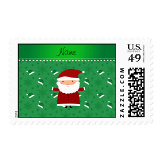 Copos de nieve verdes conocidos de encargo de los sellos