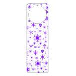 Copos de nieve - violeta en blanco colgador para puerta