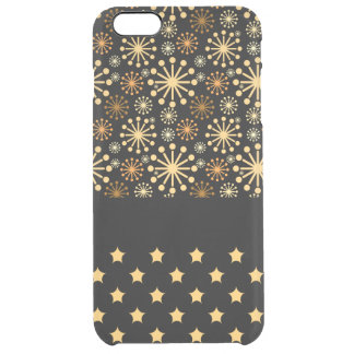 Copos de nieve y estrellas bonitos funda clearly™ deflector para iPhone 6 plus de unc