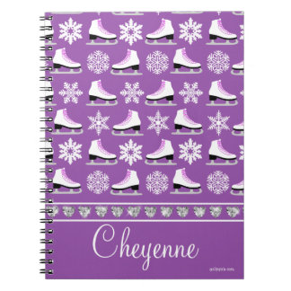 Copos de nieve y figura personalizados modelo de note book