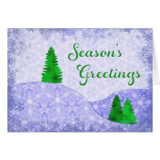 Copos de nieve y navidad del diseño del tarjeta de felicitación