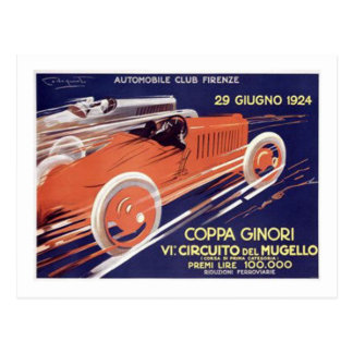 Coppa Ginori Auto Club Firenze Postcard