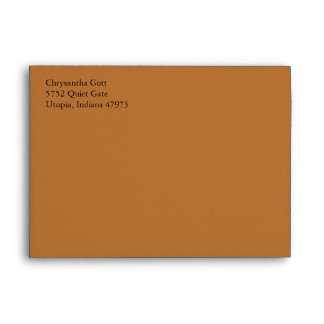 Copper A7 5x7 Custom Pre-addressed Envelopes