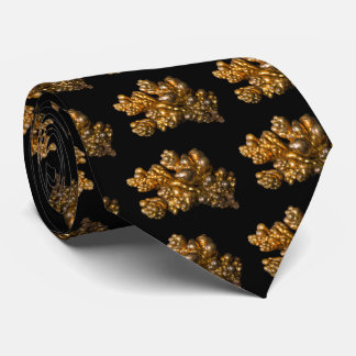 Copper A Gold Colored Mineral Photo on Black Neck Tie