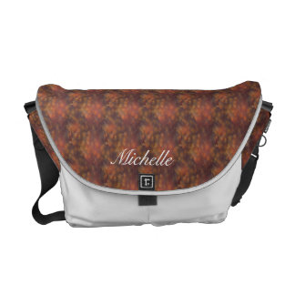 Copper Abstract Messenger Bag