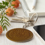 Copper American Wheat Penny Keychain at Zazzle
