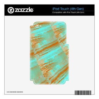 Copper and Aqua Curves Design iPod Touch 4G Skin