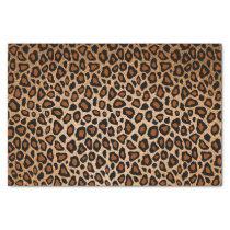 Copper and Black Leopard Animal Print Tissue Paper