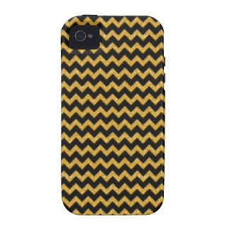 Copper and Black Sparkly Chevron Case-Mate iPhone 4 Cases