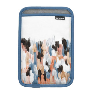 Copper and Blue Brushstrokes Abstract Design iPad Mini Sleeve