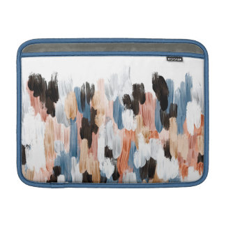 Copper and Blue Brushstrokes Abstract Design MacBook Sleeve