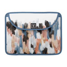 Copper And Blue Brushstrokes Abstract Design Sleeve For Macbook Pro at Zazzle