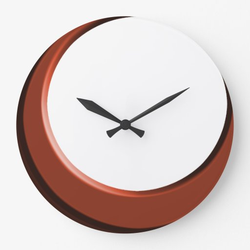 Copper And White Retro Modern Kitchen Wall Clock Zazzle