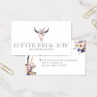 Copper Avenue Brow Bar Business Card