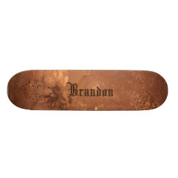 Copper background skateboard