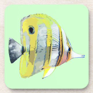 Copper-banded Butterfly Fish Beverage Coaster