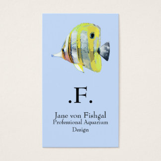 Copper-banded Butterfly Fish Business Card