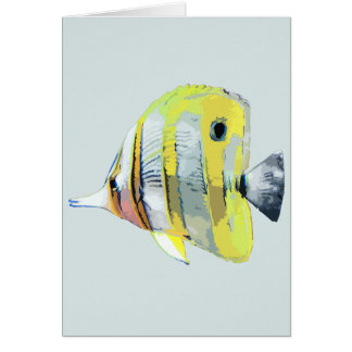 Copper-banded Butterfly Fish Card
